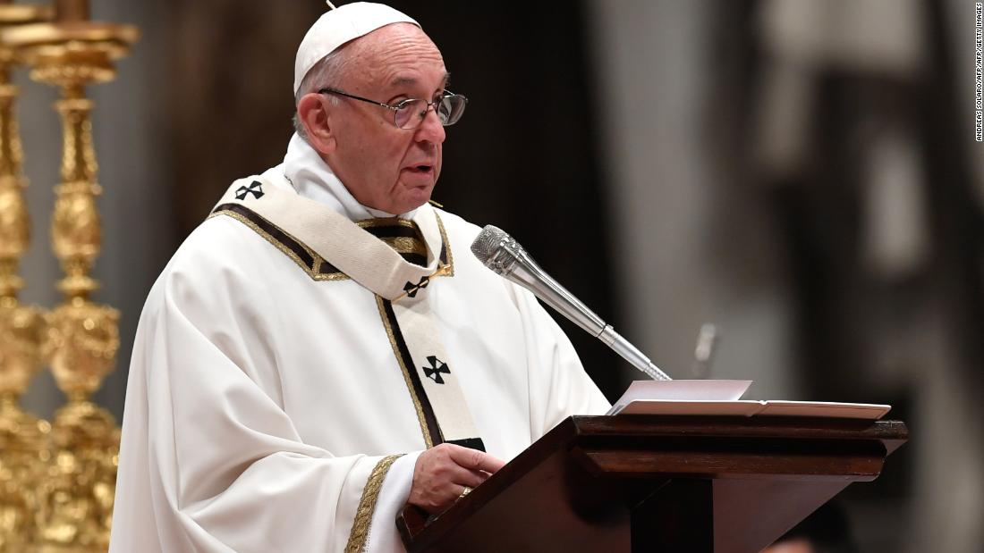 Pope christmas message homosexuality statistics