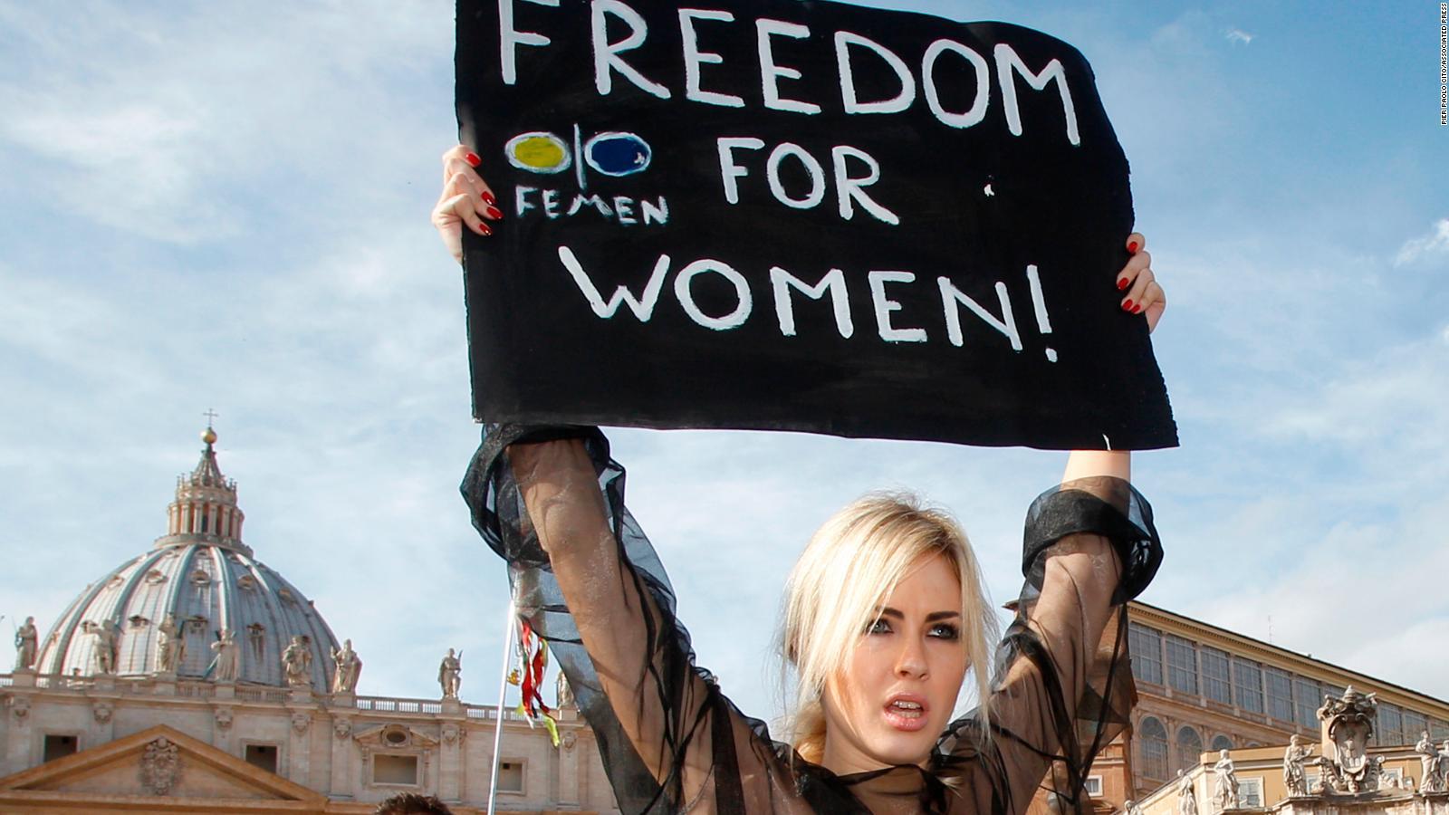 vatican Topless women protest