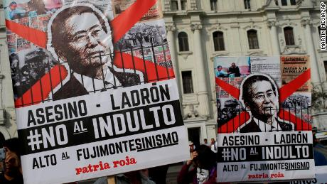 Peru's ex-leader Fujimori asks for forgiveness amid heated protests