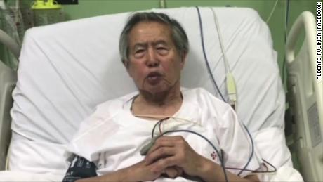 Alberto Fujimori made a video statement on Facebook after days of protests against his pardon.