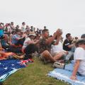 crowds at north head sydney hobart