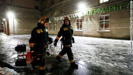The blast took place Wednesday at a Perekrestok supermarket in Russia's second-largest city.