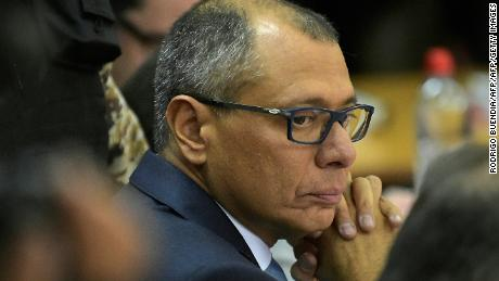 Ecuador's vice president Jorge Glas is seen upon his arrival in court on November 24, 2017 in Quito, Ecuador. Glas was indicted for unlawful association in the giant corruption case involving Brazilian constructor Odebrecht. / AFP PHOTO / Rodrigo BUENDIA        (Photo credit should read RODRIGO BUENDIA/AFP/Getty Images)
