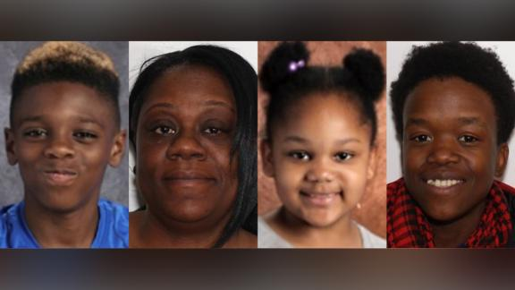 The four people found dead Tuesday in Troy, New York, were, from left to right, Jeremiah Myers, 11, Shanta Myers, 36, Shanise Myers, 5, and Brandi Mells, 22.