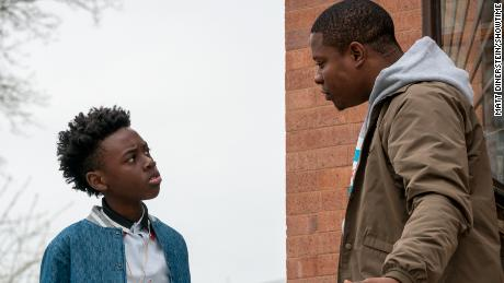 Alex Hibbert and Jason Mitchell in 'The Chi'