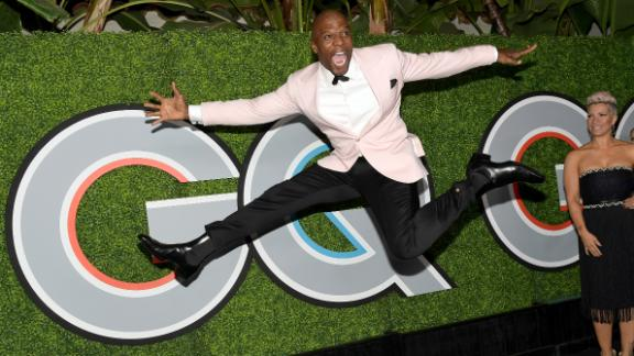 Touchdown for football player turned TV/movie star Terry Crews on July 30.