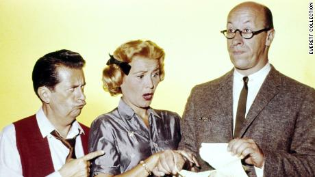 "Rose Marie appears with her ""Dick Van Dyke"" co-stars Morey Amsterdam (left) and Richard Deacon."
