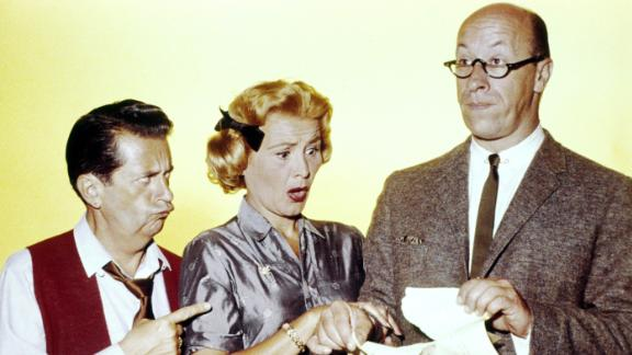 """Rose Marie appears with her """"Dick Van Dyke"""" co-stars Morey Amsterdam (left) and Richard Deacon."""