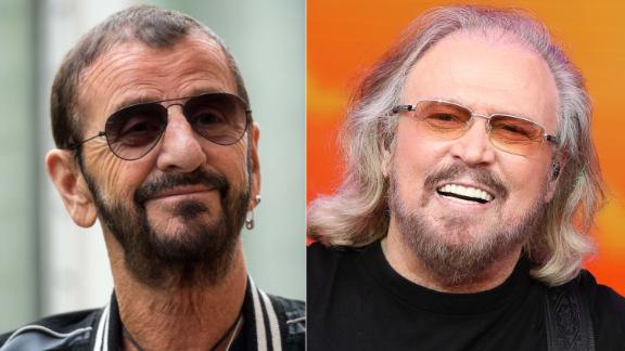 Musicians Ringo Starr (L) and Barry Gibb have been awarded knighthoods.