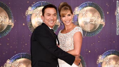 "Darcey Bussell (R) at the ""Strictly Come Dancing 2017"" red carpet launch in August"