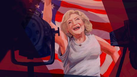 American Woman Betty White Illustrated