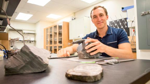 Gulbranson studies tree rings for clues about how these trees grew in polar ecosystems.