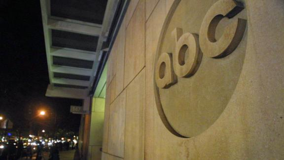 395901 04: The ABC logo is displayed outside ABC News headquarters after an anthrax scare October 15, 2001 in New York City. The 7-month-old son of an ABC News employee in New York has contracted the disease after visiting the studio. (Photo by Mario Tama/Getty Images)