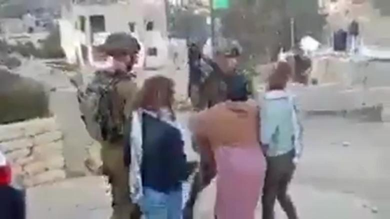 palestinian teen charged assaulting israeli soldier ahed tamimi liebermann lkl_00002803