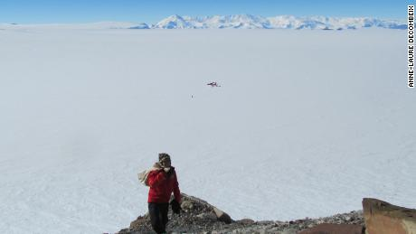Erik Gulbranson on site in Antarctica.