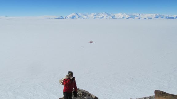 Erik Gulbranson on site in Antarctica.