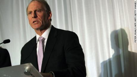 Former US diplomat Richard Haass speaks to the media during a press conference at the Stormont hotel in Belfast, Northern Ireland on December 31, 2013. Haass said no agreement had been reached during talks with Northern Ireland's five main policital parties, aimed at solving some of Northern Ireland's most contentious issues on flags, parades and the past.      AFP PHOTO / PETER MUHLY        (Photo credit should read PETER MUHLY/AFP/Getty Images)