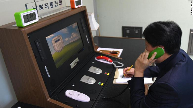 Hotline restored between North and South Korea