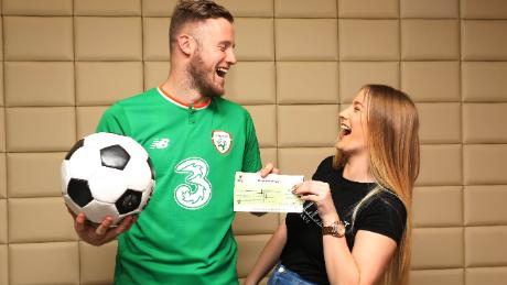 The defender won the top prize of €1,000,000 on the National Lottery's Millionaire Raffle draw which took place on New Year's Eve.