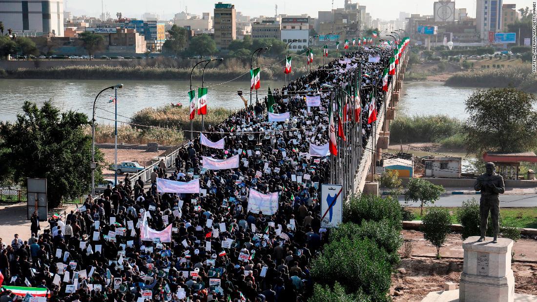 Iran Revolutionary Guards Claim Protests Over Cnn