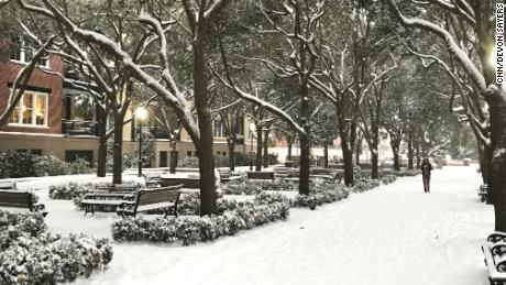 Some areas of Charleston saw 5 inches of snow, the city's largest snowfall in 28 years.