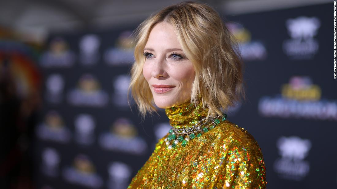 Cate Blanchett has cut her head with a chainsaw during lockdown -- but she's OK