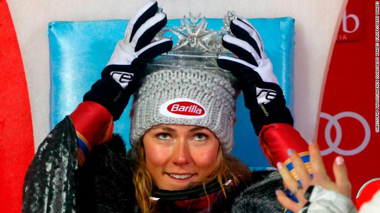 "Mikaela Shiffrin crowned ""Snow Queen"""