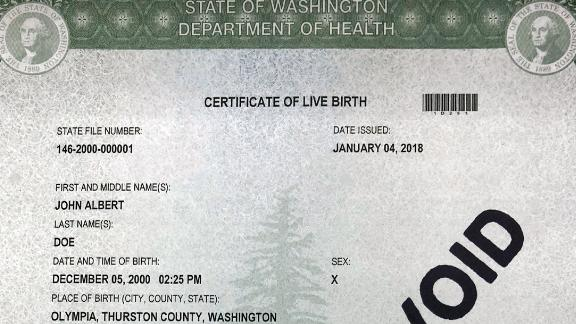 'X' will soon be a gender marker option on Washington state birth certificates.