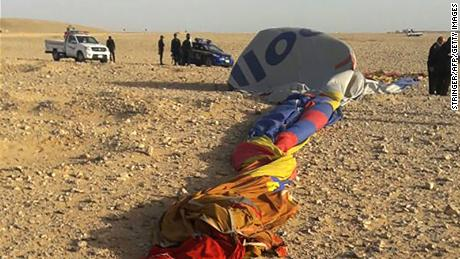 Strong winds were responsible for the crash, the hot air balloon company said.