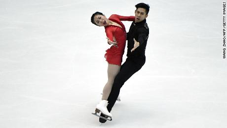 Pairs skaters Sui and Han are reigning world champions.