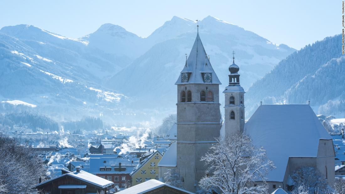 <strong>Chocolate-box charm: </strong>Away from the madness of race weekend, Kitzbuhel is one of the most beautiful settings in the Alps with a pretty, cobbled medieval center.