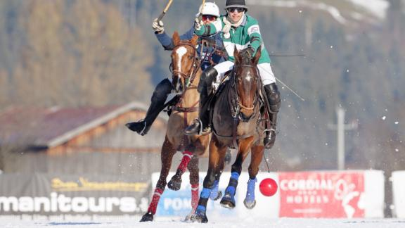 Multi talented: Kitzbuhel is more than just a ski resort, with activities such as polo on ice as well as a thriving summer scene including hiking, golf and tennis.