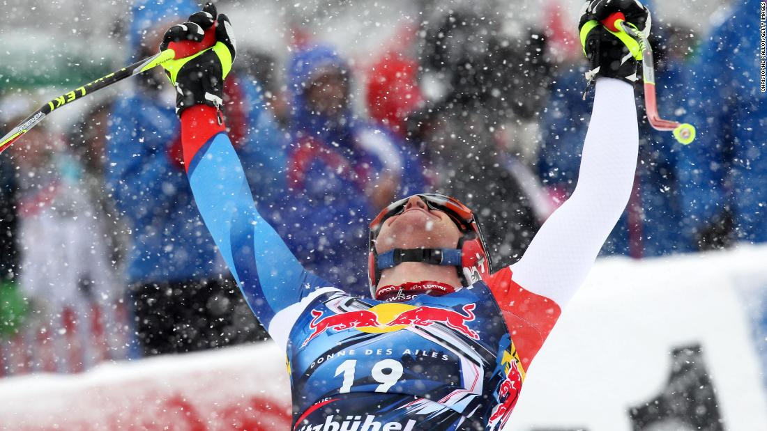 <strong>No guts, no glory:</strong> Winning at Kitzbuhel is the ultimate for a downhill racer. Austrian great Franz Klammer did it four times but Swiss Didier Cuche (pictured) holds the record with five wins.