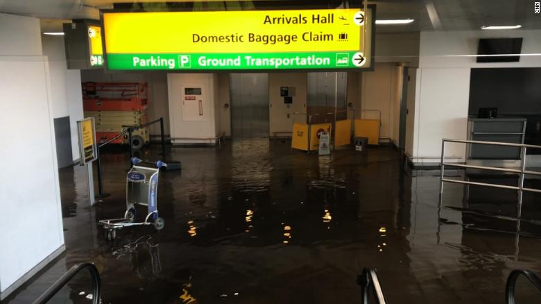 Water main break floods parts of JFK airport