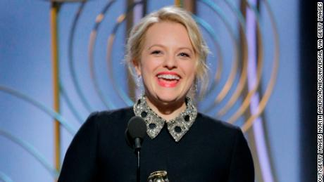 Elisabeth Moss won the Golden Globe Award for best performance by an actress in a TV drama.