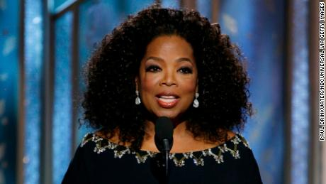 In this handout photo provided by NBCUniversal, Presenter Oprah Winfrey speaks onstage during the 72nd Annual Golden Globe Awards at The Beverly Hilton Hotel on January 11, 2015 in Beverly Hills, California.