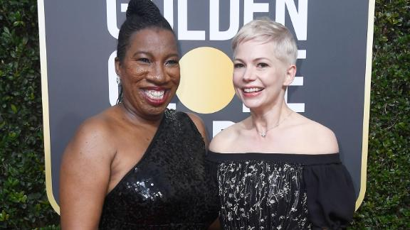 Tarana Burke, left, and Michelle Williams. Burke is the founder of the #MeToo movement.