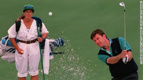 Faldo and Sunesson at Augusta National -- an enduring sight for golf fans throughout the 1990s.