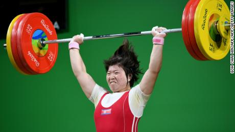 North Korea's Rim Jong Sim won gold in the women's weightlifting 75kg at Rio 2016.