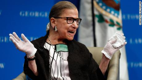 Ruth Bader Ginsburg, with clerk hires, signals desire to outlast Trump