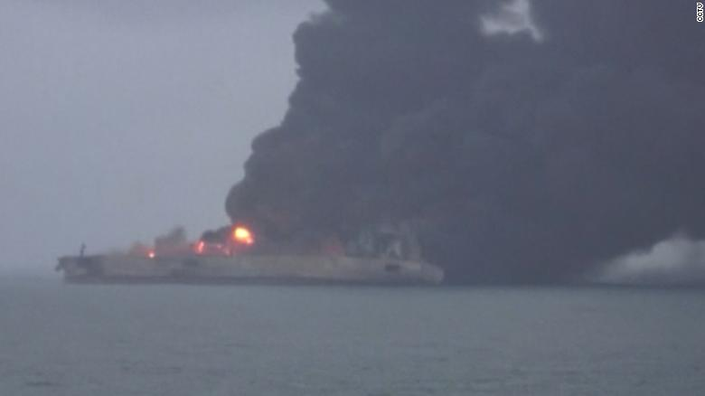 Tanker, freighter collide off China