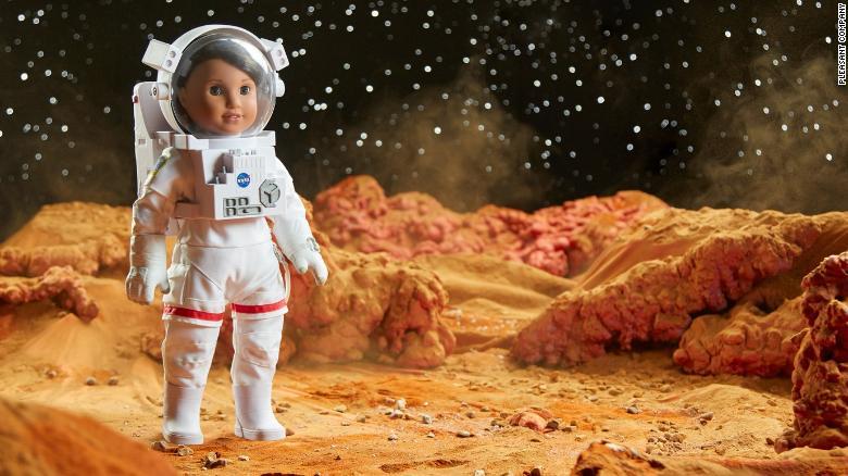 Luciana Vega as an astronaut on Mars.
