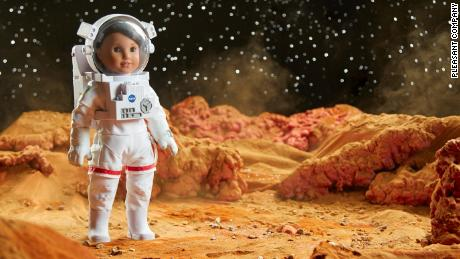 Luciana Vega as an astronaut on Mars.
