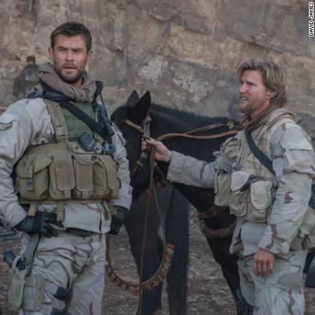 Chris Hemsworth, Thad Luckinbill in '12 Strong'