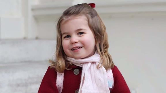 Charlotte is the first princess who won't be overtaken in the line of succession by a younger brother.