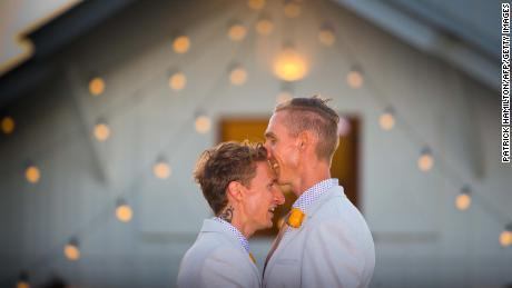 Joy at first same-sex weddings in Australia