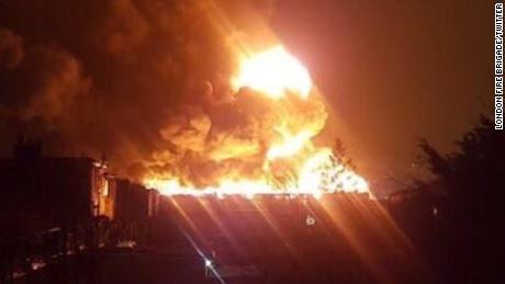 Paint Factory Goes Up In Fiery Blaze