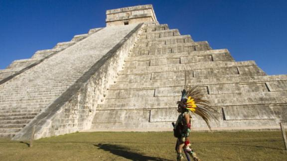"""Archaeologists are hoping to discover an underwater cavern hidden beneath the imposing """"El Castillo"""" temple, at Chichen Itza, Mexico."""