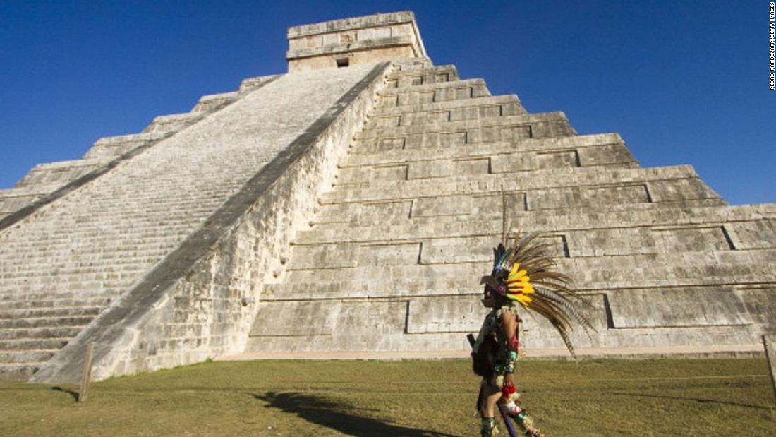"Archaeologists are hoping to discover an underwater cavern hidden beneath the imposing ""El Castillo"" temple, at Chichen Itza, Mexico."