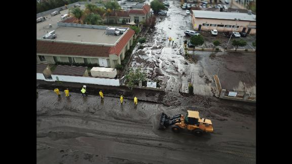 Heavy rain following a wildfire caused a debris flow in January in Sun Valley, California.